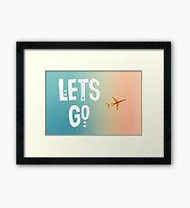 Let's Go (Airplane) Framed Print