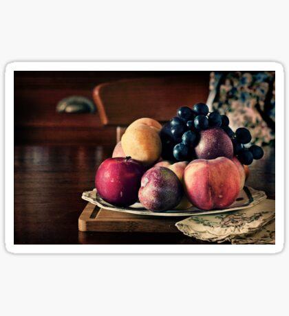 ~ still life with summer fruit ~ Sticker