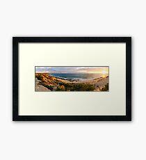 Late Afternoon Light - Burns Beach Framed Print
