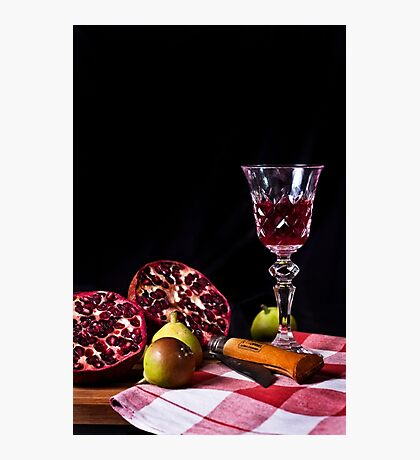 ~ still life with pomegranate ~ Photographic Print