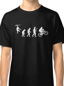 Funny Mountain Biking Evolution Classic T-Shirt