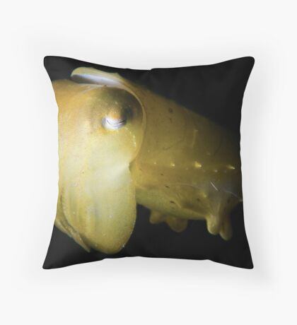 Snooted Cuttlefish Throw Pillow