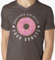 Whatever Sprinkles Your Donuts T Shirt Men's V-Neck T-Shirt