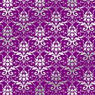 Damask Silver Grey Royal Purple Classic Elegant by Beverly Claire Kaiya