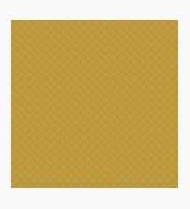 Spicy Mustard Puffy Quilt Pattern Photographic Print