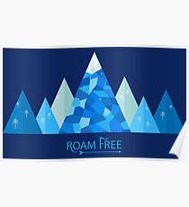 Roam Free Landscape Poster