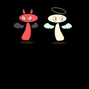 Angel / Devil Chance meeting by HalfNote5