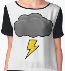 Cartoon Thundercloud!! Chiffon Top
