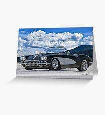 1958 Corvette 'Resto' Roadster Greeting Card