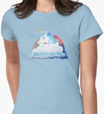 Central Intelligence - Unicorn (Faded as worn in the film) Bob Stone Women's Fitted T-Shirt