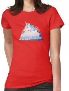 Central Intelligence - Unicorn (Faded as worn in the film) Bob Stone Womens Fitted T-Shirt