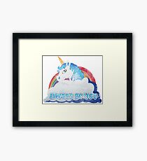 Central Intelligence - Unicorn (Faded as worn in the film) Bob Stone Framed Print