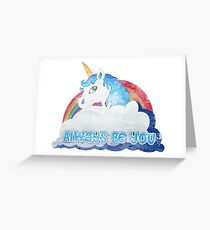 Central Intelligence - Unicorn (Faded as worn in the film) Bob Stone Greeting Card