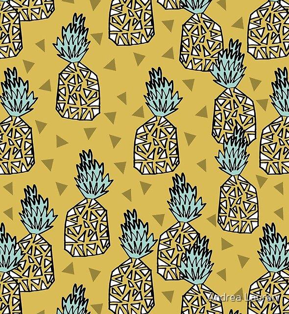 Pineapple - Yellow by Andrea Lauren by Andrea Lauren