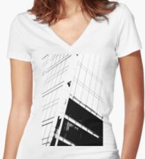 Office Tower Women's Fitted V-Neck T-Shirt