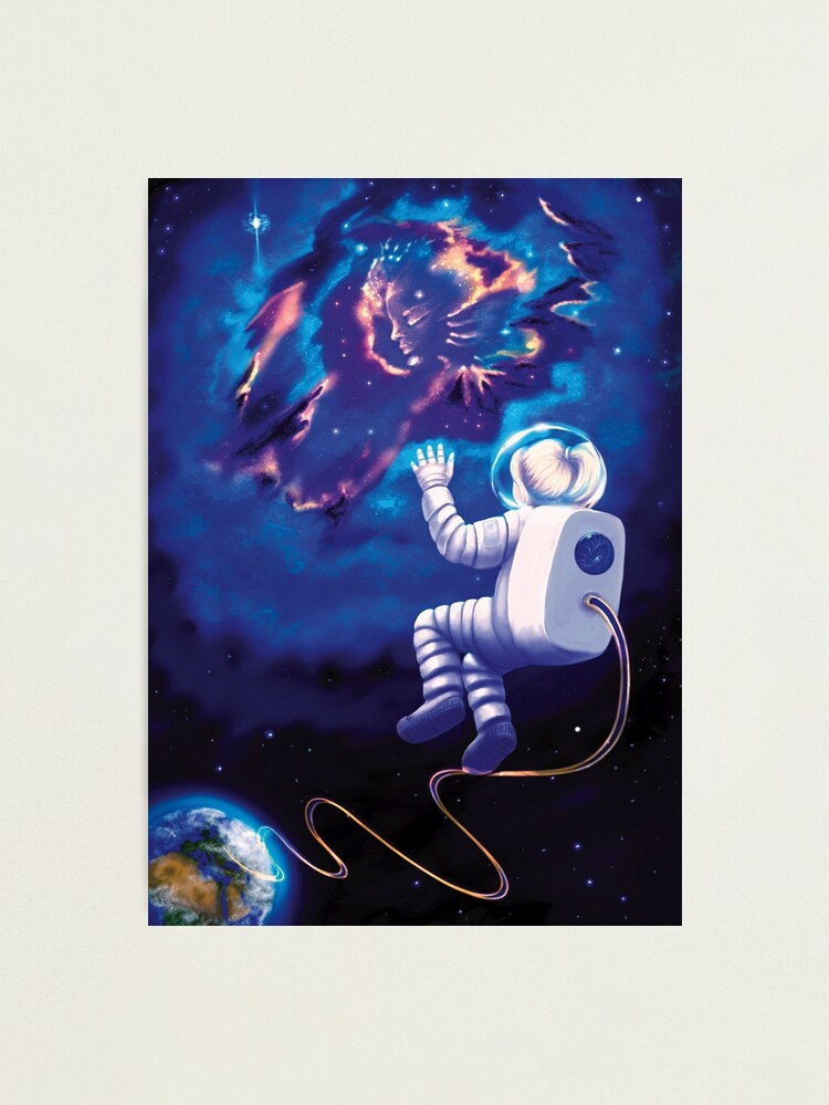 Alternate view of An Astronaut, My Childhood Dream (no country flag) Photographic Print