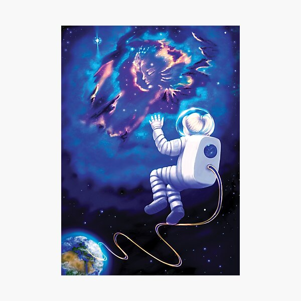 An Astronaut, My Childhood Dream (no country flag) Photographic Print