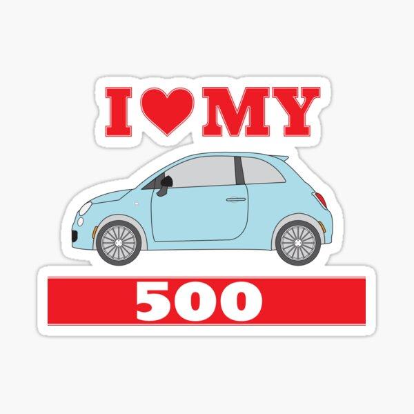 J'adore mes 500 Sticker