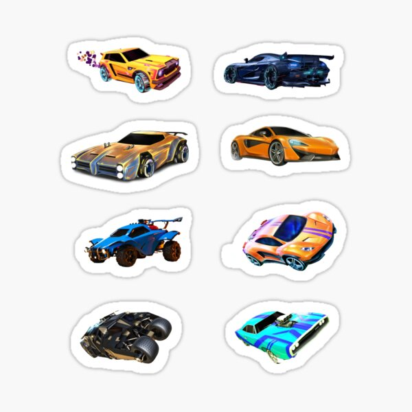 8 coches de Rocket League Pegatina