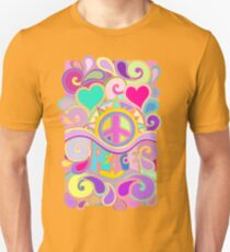 Psychedelic Hippy Retro Peace Art Unisex T-Shirt
