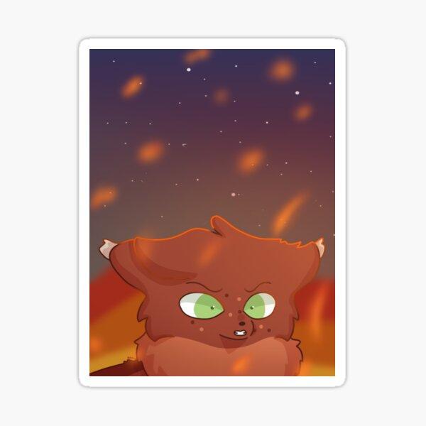 Battle Cats Squirrelflight Fire Scene Sticker