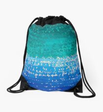 Ride the Wave original painting Drawstring Bag