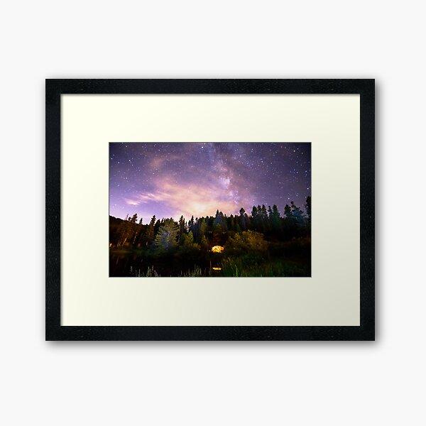 Galaxy Night Framed Art Print