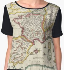 Vintage Map of Europe (1657) Chiffon Top