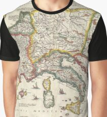 Vintage Map of Europe (1657) Graphic T-Shirt