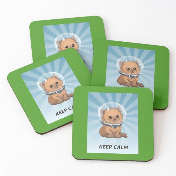 keep calm kitty, keep calm, subnautica, calm, gassik, zz Coasters (Set of 4)