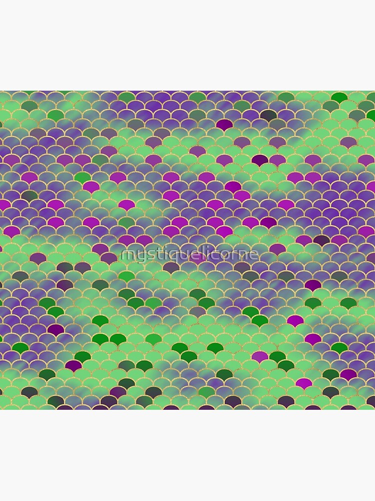 Green and Purple Mermaid Scales by mystiquelicorne