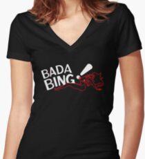 Bada Bing - Blurry Neon Variant Women's Fitted V-Neck T-Shirt