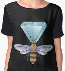 Bumblebee and diamond. Women's Chiffon Top