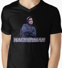 HACKERMAN -Mr Robot  Men's V-Neck T-Shirt