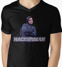 HACKERMAN -Mr Robot  Men's V-Neck T-Shirt