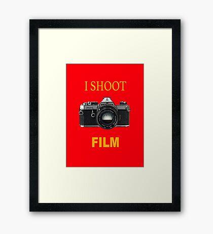 Disparo de cine Lámina enmarcada