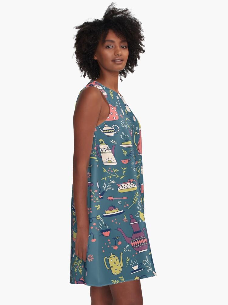 Alternate view of Teapots #3 A-Line Dress