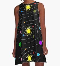 The Solar System A-Line Dress