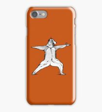 Yogi bear pose - Warrior 2  iPhone Case/Skin