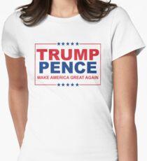 Camiseta entallada para mujer Trump Pence: haz que Estados Unidos sea grandioso otra vez