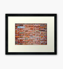 All in all...It's just another thought on the wall Framed Print
