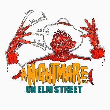 A Nightmare on Elm Street NES by martyrofevil