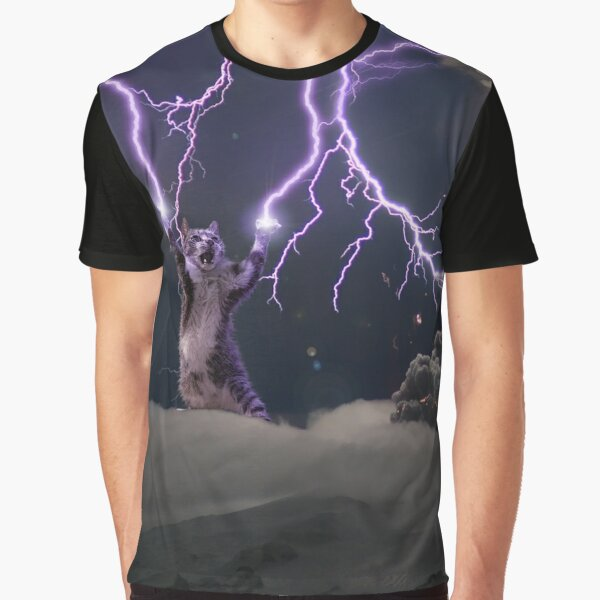 Cat Lightning  Graphic T-Shirt