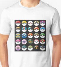 Pokemon Pokeball Black T-Shirt