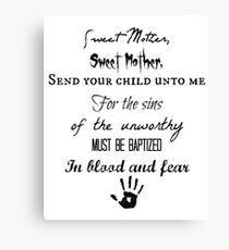 Skyrim Dark Brotherhood Black Sacrament  Canvas Print