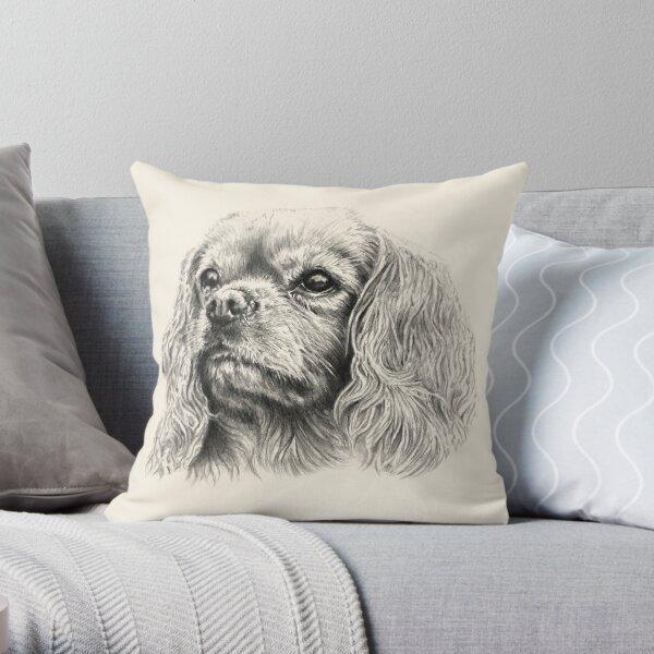 Mr Bingley the Cavalier King Charles Spaniel Throw Pillow