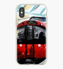London Underground Piccadilly Line Tube Station Contemporary Acrylic Painting iPhone Case