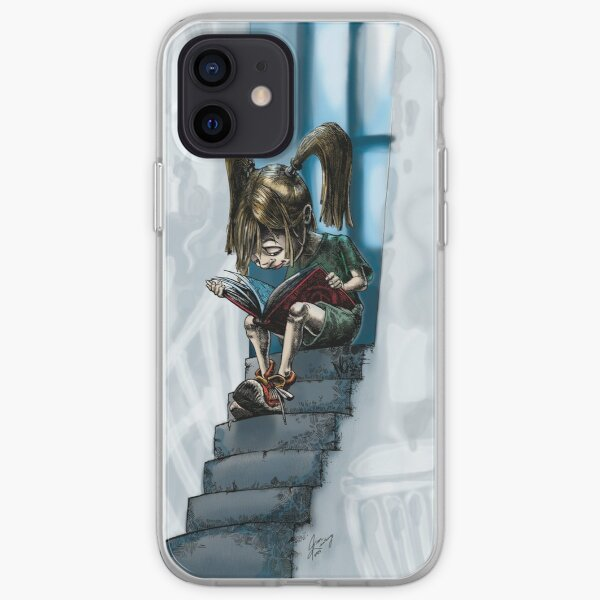 Reading on the steps iPhone Soft Case