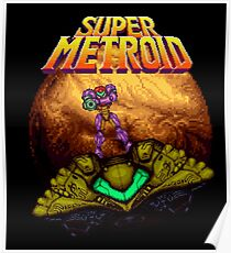 Super Metroid - Samus leaving Zebes Poster