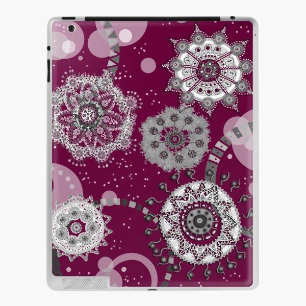 Flor de nieve en gris Vinilo para iPad